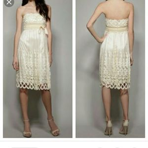 Pristine Vivienne Tam ivory lace velvet dress 4